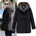 New 2015 Winter Jacket Women Wool Stitching Slim Thickening Medium-long Sections Fashion Women Cotton Coats