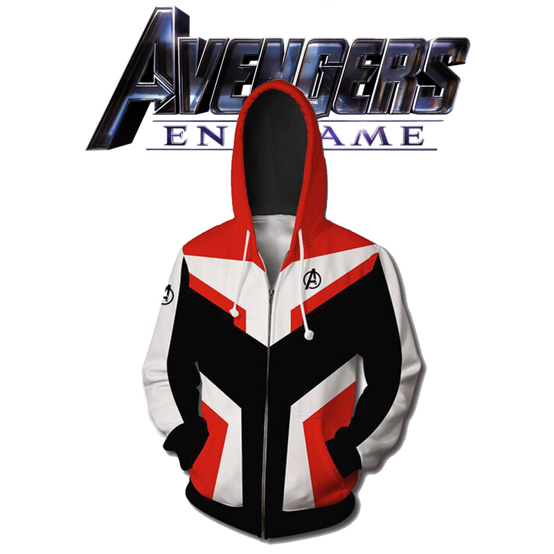 Avengers Endgame Hoodie Cosplay Avengers Iron Man Captain Marvel Captain America Black Widow Costumes For Men Women Dropship