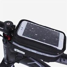 MTB Дорога велосипед сумки непромокаемые Сенсорный экран Велоспорт Топ передняя Труба Каркасные сумки 3,5 дюймов-5,7 дюймов чехол для телефона велосипед аксессуары