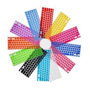 Układ ue francuski/francja AZERTY silikonowa kolorowa naklejka ochronna klawiatura skóra dla 13