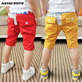 2017 Summer Fifth Pants Boys Children's Clothes Baby Kids Leisure Pocket Pants Elastic Waist Straight Trousers
