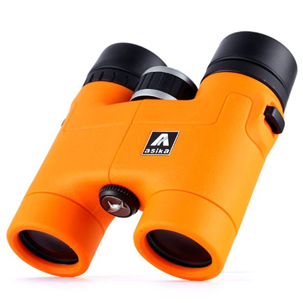 Jumelles d'origine Asika 8x32 télescope HD haute qualité télescopio binoculo BAK4 prisme toit prisme entièrement multi-enduit 3 couleurs