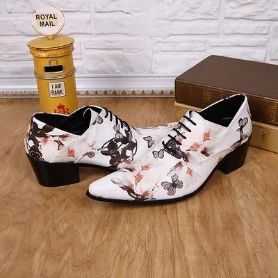 Business Weiß Schmetterling Kleid Leder Herbst Lace Gedruckt Fashion Frühling up Hochzeit Schuhe qazUCxw