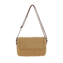 DCOS Hot Summer Women Shoulder Bag Hand Made Exquisiteness Straw Bags Mini Woven Flap Sweet Pastoral Rattan Girls Bag(China)
