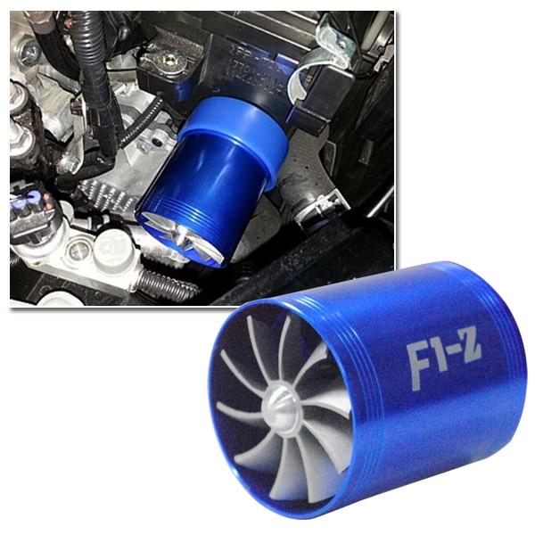 Free Shipping Dual Fan Turbo Blue Supercharger Tornado Air