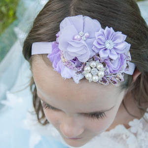 Flower Headband Hair-Products Peacock Hair-Accessories Chiffon Fashion 1PCS Gift Frayed