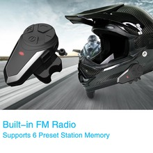 купить 2 PCS BT-S3 motorcycle helmet intercom 1000M wireless helmet bluetooth headset waterproof BT interphone intercomunicador moto FM дешево