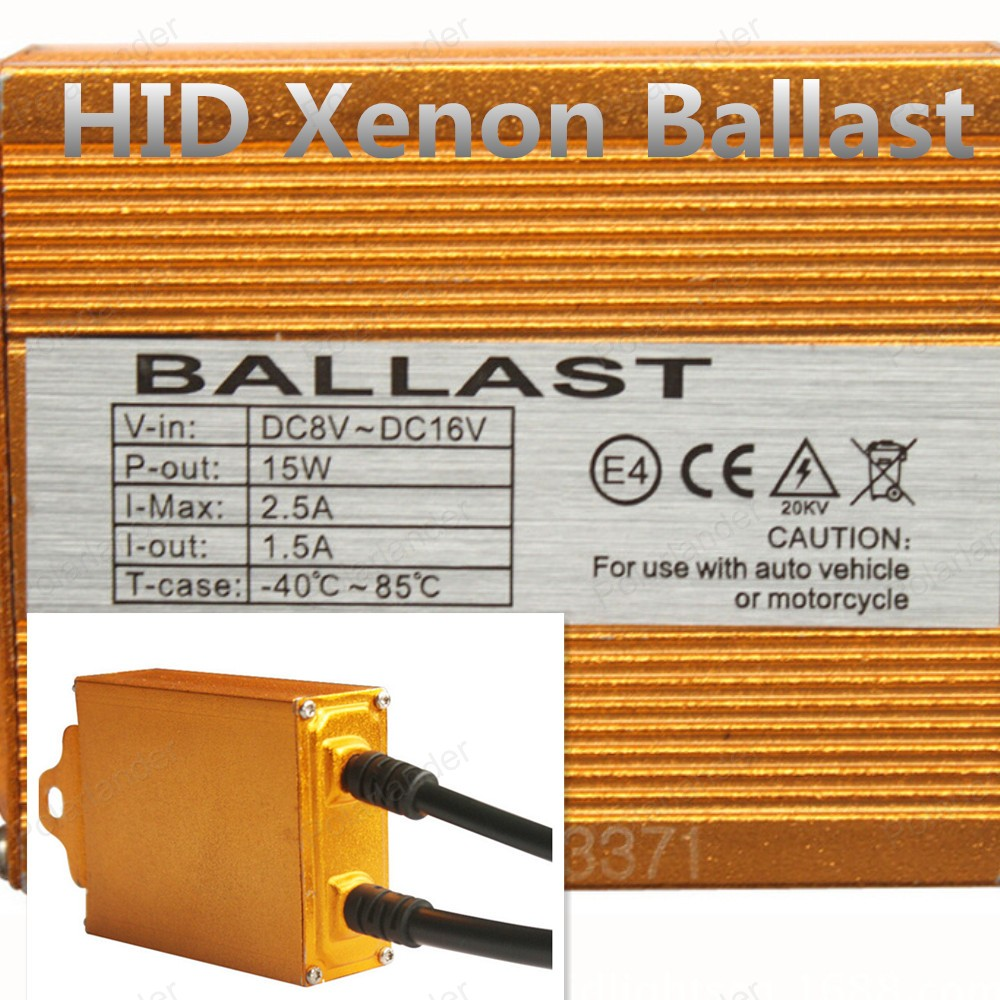 ФОТО Polarlander 2pcs Original HID Xenon Ballast for all any hid lamps 35W 12V Gold Ballast Digital Slim