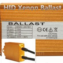Polarlander 2pcs Original HID Xenon Ballast for all any hid lamps 35W 12V Gold Ballast Digital Slim