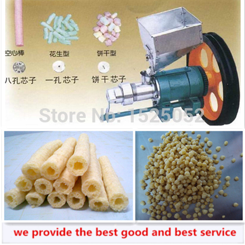 Corn or Rice Food Extrusion Machine with 7 Molds Corn Puffed Machine Food Extruder( Main Machine) large production of snack foods puffing machine grain extruder single screw food extruder