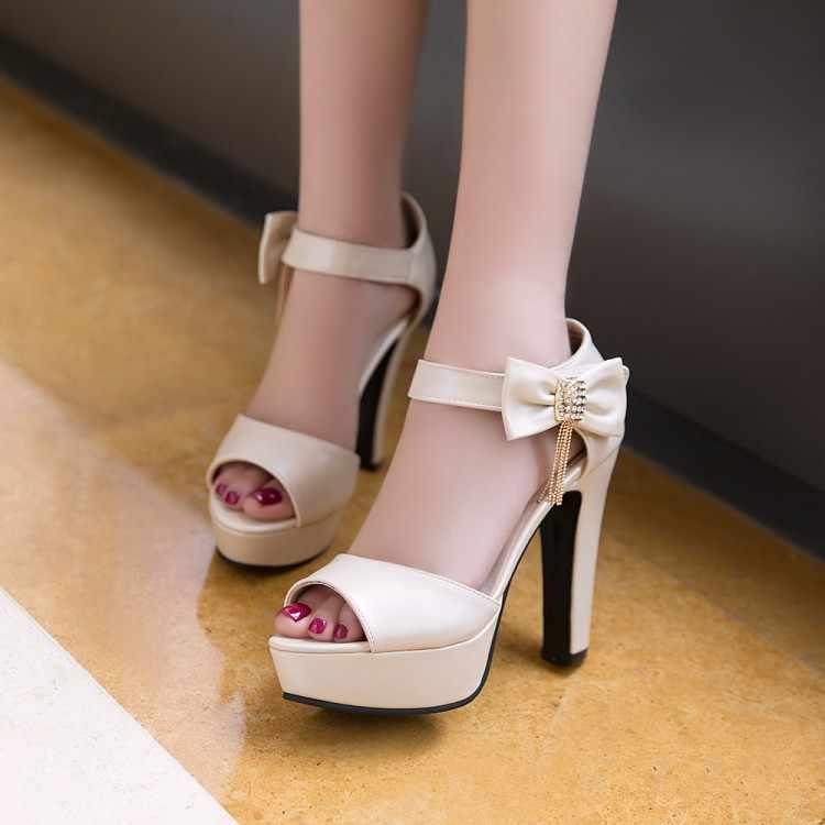 Big Size 9 10 11-17 di estate delle signore sandali della piattaforma delle donne scarpe da donna Arco dei pesci tavolo becco