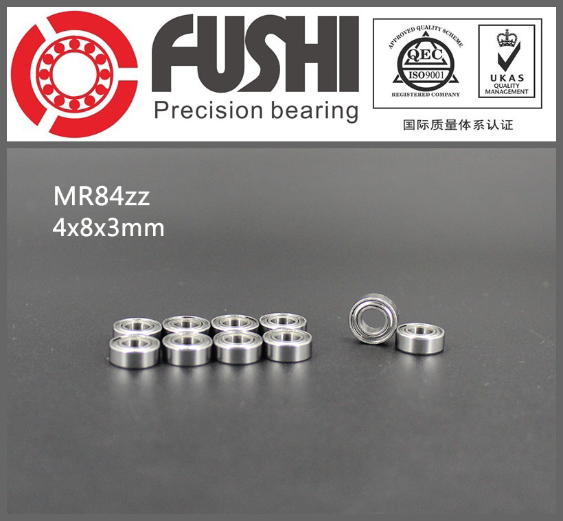 MR84ZZ Bearing ABEC-1 (10PCS) 4*8*3 mm Miniature MR84-ZZ Ball Bearings MR84 ZZ WML4008ZZ L-840ZZ free shipping 10pcs lot mr84 mr84z mr84zz 4x8x3 mm deep groove ball bearings miniature model bearing mr84 l 840 zz