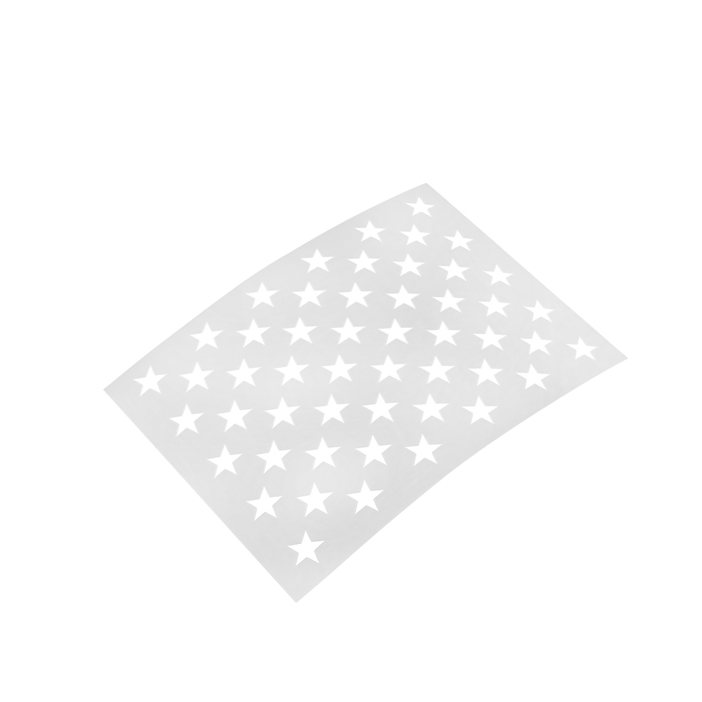 It is an image of Enterprising American Flag Star Template Printable