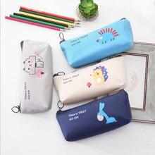 1X Kawaii Cartoon animal pencil box Kids Children School Supplie stationery Gift Pen bag  school office stationer supplies
