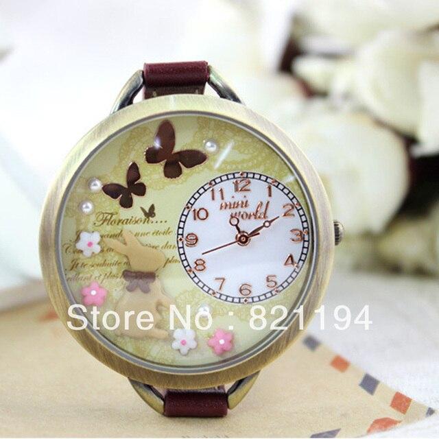 Corea Marca Mini Mundial Mujer Reloj De Cuarzo Rabbit