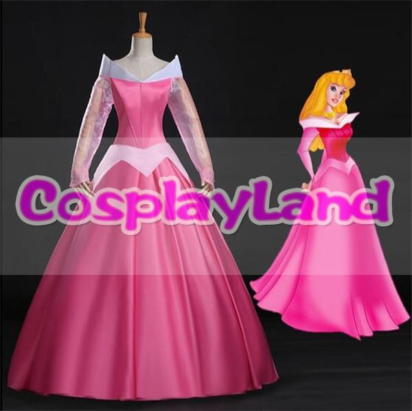 Sleeping Beauty Princess Aurora Dress Halloween Costumes Adult Women Fancy Costume Aurora Cosplay Costume Pink Princess Dress