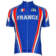 2017 Man France cycling jersey red Climbing blue clothing bike wear team tops bicycle shirt road maillot ciclismo 2 style select(China)