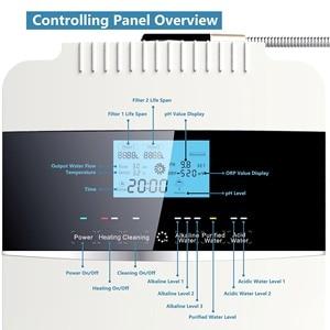 Image 5 - ハイト品質 12000L水イオナイザー清浄機発電機ORP 850 PH2.5 11.2 アルカリ酸水インスタント加熱フィルター