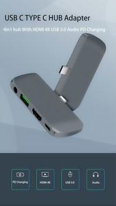 Image 5 - USB C HUB Per iPad Pro 2018 Tipo C HUB Con USB C PD di Ricarica 4K HDMI USB 3.5 millimetri cuffia Martinetti