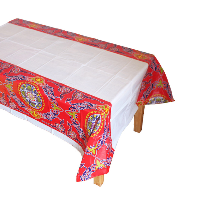 Wonderful Table Eid Al-Fitr Decorations - Plastic-Table-Cloths-Eid-al-Fitr-Mubarak-Ramadan-Table-Cover-Tablecloth-Waterproof-For-Moslem-IslamismDecoration-180  Best Photo Reference_83840 .jpg