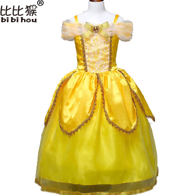 0c5df934175c1 New 2017 Kids Girl Beauty and beast cosplay carnival costume kids belle  princess dress for Christmas Halloween Dress For 3-10yrs