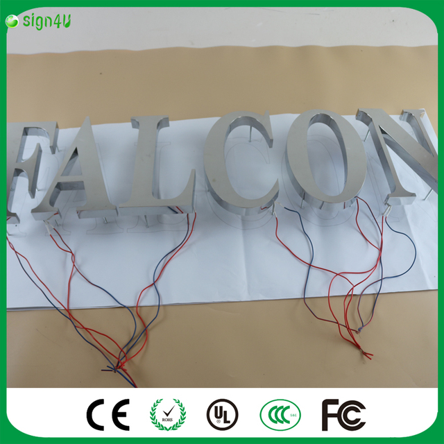 Factory cool outdoor advertising backlit Stainless steel led letter ...