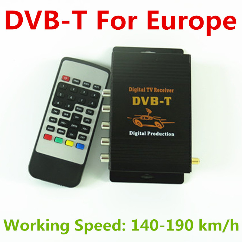 Car DVB T Digital TV Receiver Box Compatible with SD MPEG2 and HD MPEG4 AVC H