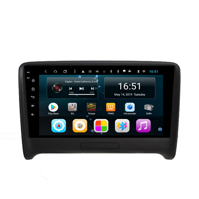 Car Built-in Wifi Microphone GPS RDS excellent Bluetooth Radio AM FM free map front camera  for AUDI TT Android 8.1