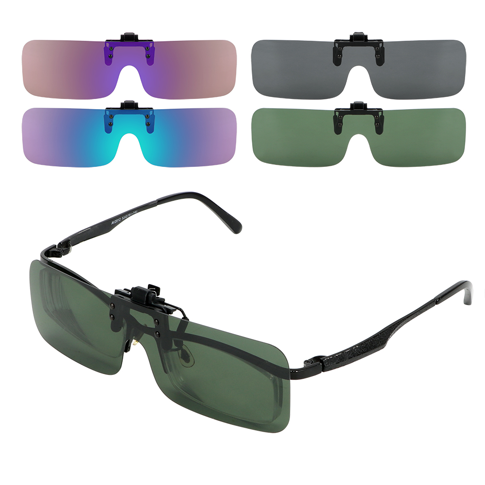 LEEPEE Car Driver Goggles Anti-glare Driving Night Vision Lens Clip On Sunglasses Polarized Sun Glasses For Men Women