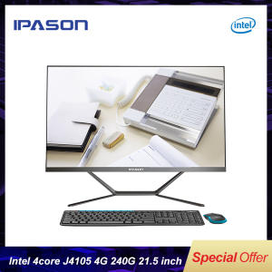 IPASON PC SSD 4G DDR4 4-Core Intel All-In-One 240G Bluetooth WIFI Bordered Narrow Black