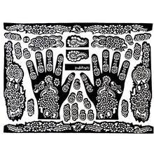 Tattoo Templates Hands/Feet Henna Tattoo Stencils For Airbrushing Mehndi Body Painting