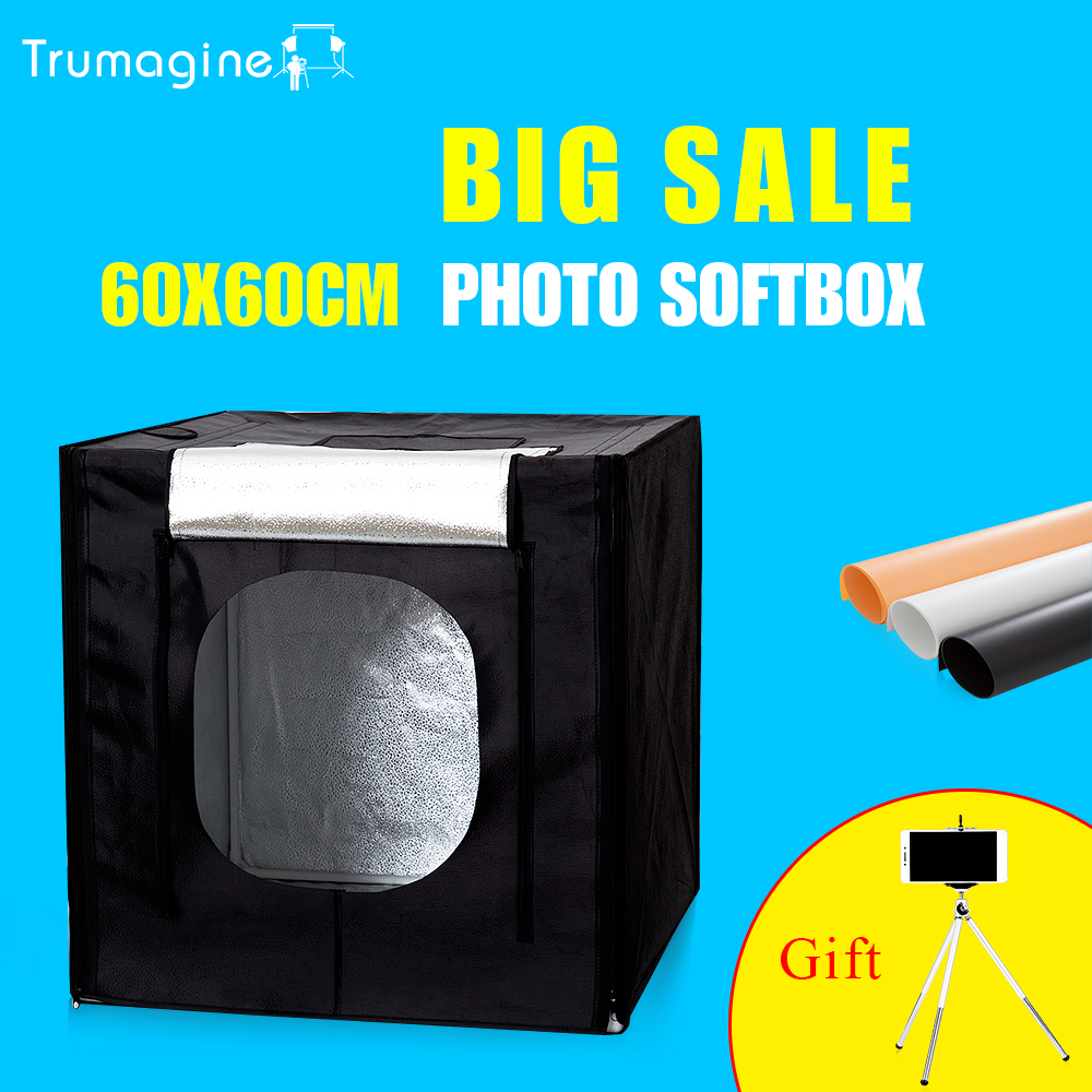 TRUMAGINE 60*60*60CM Photo Light Box Photo Studio Lighting Tent For Photography Tabletop Shooting Soft Box 60