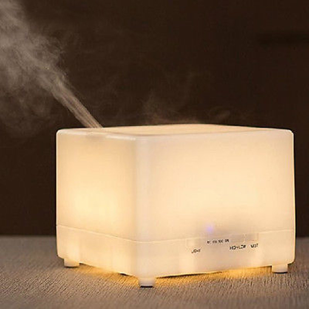 Large Capacity 700ml Ultrasonic Warm White Perfume Diffuser Aroma Atomizer Air Humidifier <font><b>LED</b></font> With Timer High/Low Mist Output