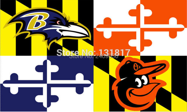 Baltimore ravens baltimore orioles maryland flag 3ft x 5ft polyester flag banner nfl flag custom flag