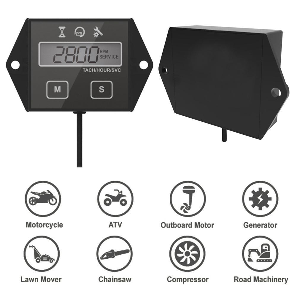 temporizador de hora para motocicleta atv temporizador de velocidade com display lcd universal acessorio para moto