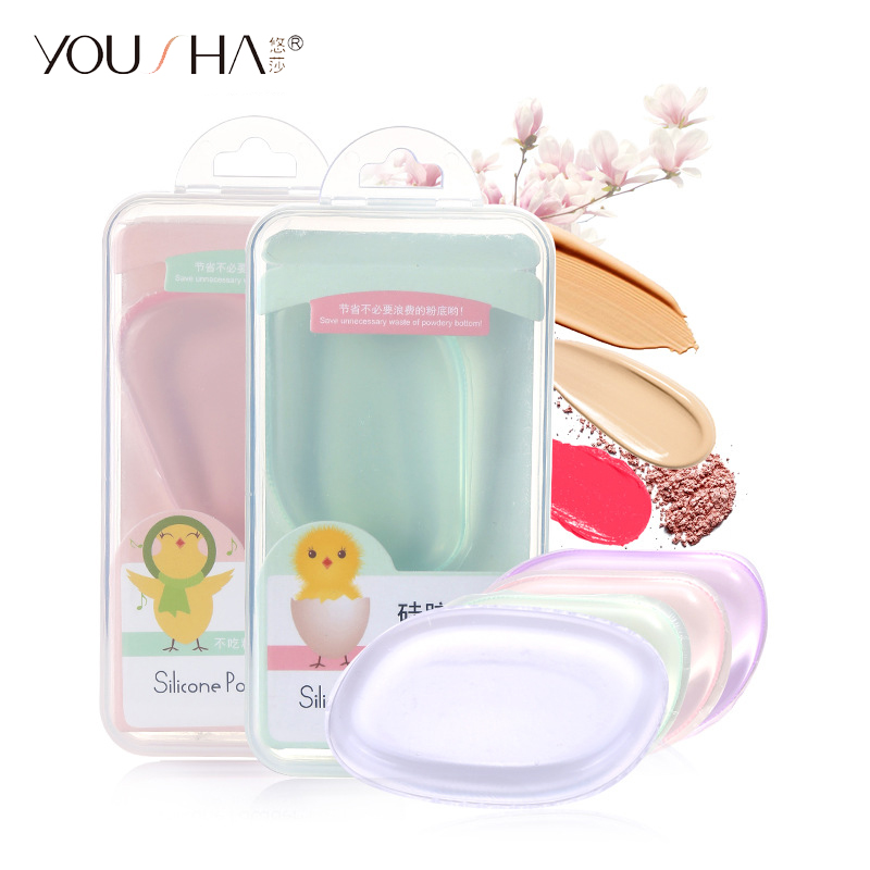 Yousha Silicone Sponge Makeup Face Silicone Makeup Sponge Puff Silisponge For Liquid Foundation Bb Cream Cosmetic Beauty Tools Beauty & Health Cosmetic Puff