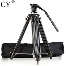 Professional High Quality Aluminum Alloy EI717 1 8m 6ft Video Camera Tripod Fluid Pan Head Portable