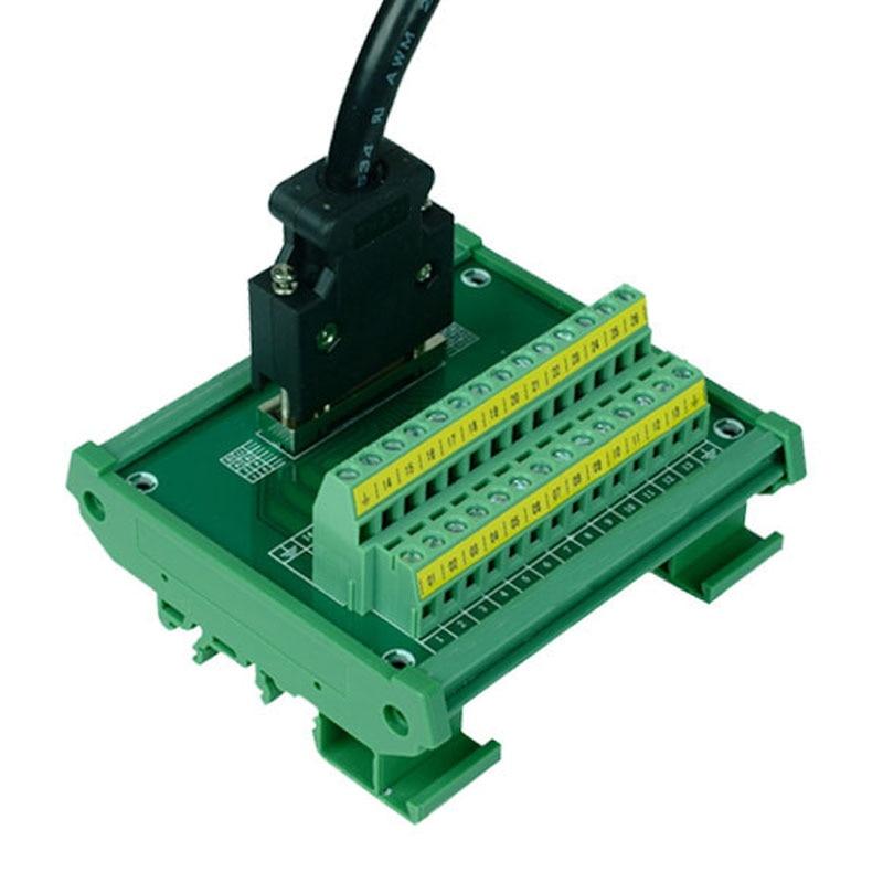 "Servo SCSI 26 module 26 pin Half Pitch/0.05"" D SUB Female Breakout Board, DSUB, SCSI26 breakout board with cable-in Terminals from Home Improvement"