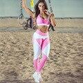 Nuevo Diseño Deportivo Leggings Plus Size Elasticidad Pantalones Leggings Aeróbicos Fitness Femenino Para El Culturismo Adelgazamiento Ejercicio