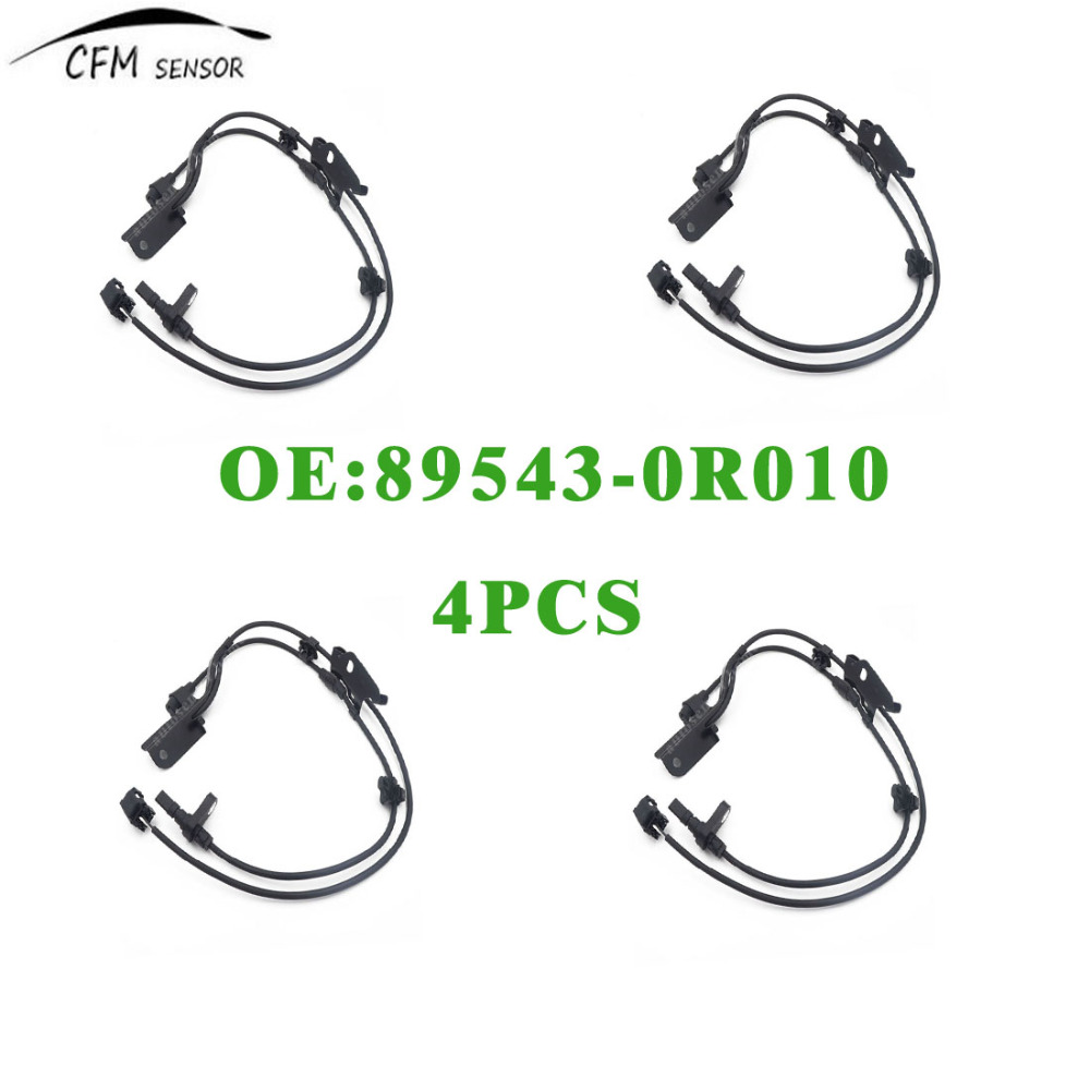 4PCS New Brand ABS Wheel Speed Sensor 89543 0R010 Front
