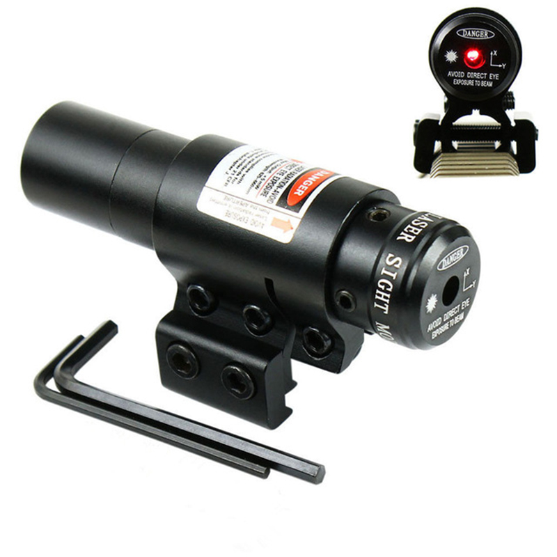 2018 NEW Tactical Red Dot Red Laser Sight With Tail Switch Scope Pistol Hunting Optics Tactical Optics Red dot Laser