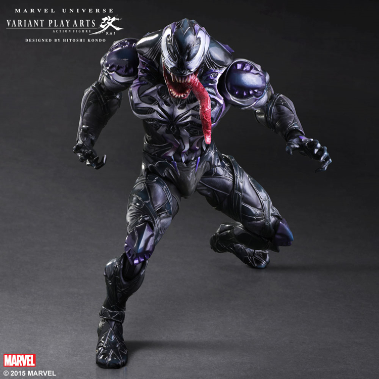 Play Arts Kai Venom PVC Action Figure Collectible Model Toy 2 Colors play arts kai street fighter iv 4 gouki akuma pvc action figure collectible model toy 24 cm kt3503