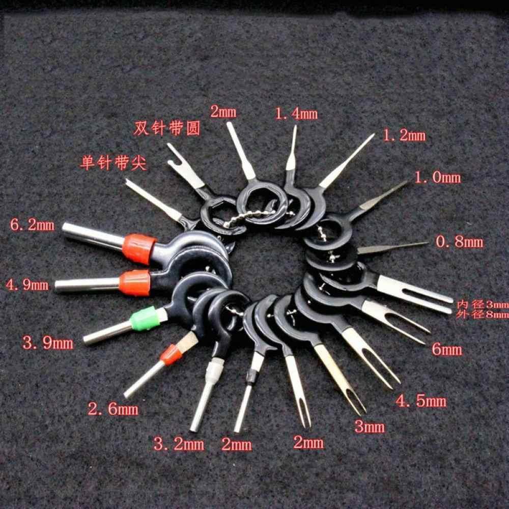 18 piezas/11 piezas Extractor de clavijas de coche Extractor de Terminal de eliminación Kit de herramientas de llave de cableado eléctrico engarzado conector de liberación