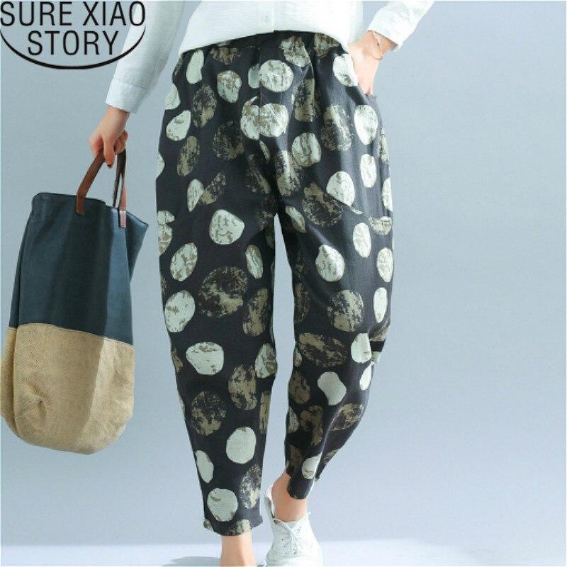 Sweat   pants   2019   wide     leg     pants   shirts korean sweatpants Loose Casual Elastic Waist Dot High Flat Harem   Pants   2466 50