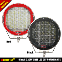 Round 320W 9inch Led Off Road Lights With Cover IP67 High Power Super Bright Led Driving