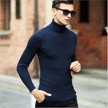 High Quality Winter Sweater Men Knitwear Pullover Slim Turtleneck Men's Clothing Sweaters Solid Thick Male Sweater Pull Plus
