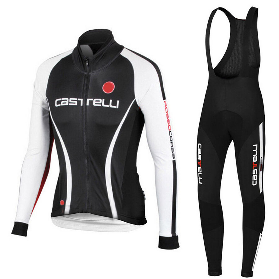 ФОТО Winter 2017 Long Sleeve Pro Thermal Fleece Cycling Sets Jersey Bike Clothing Maillot Ciclismo Bicycle Clothes