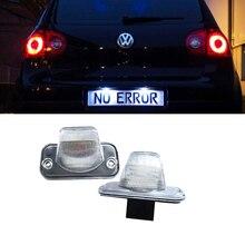 Emark canbus no error LED License Plate light For VW T4 Tranaporter Passat B5 Candy Jetta Touran Transporter car styling