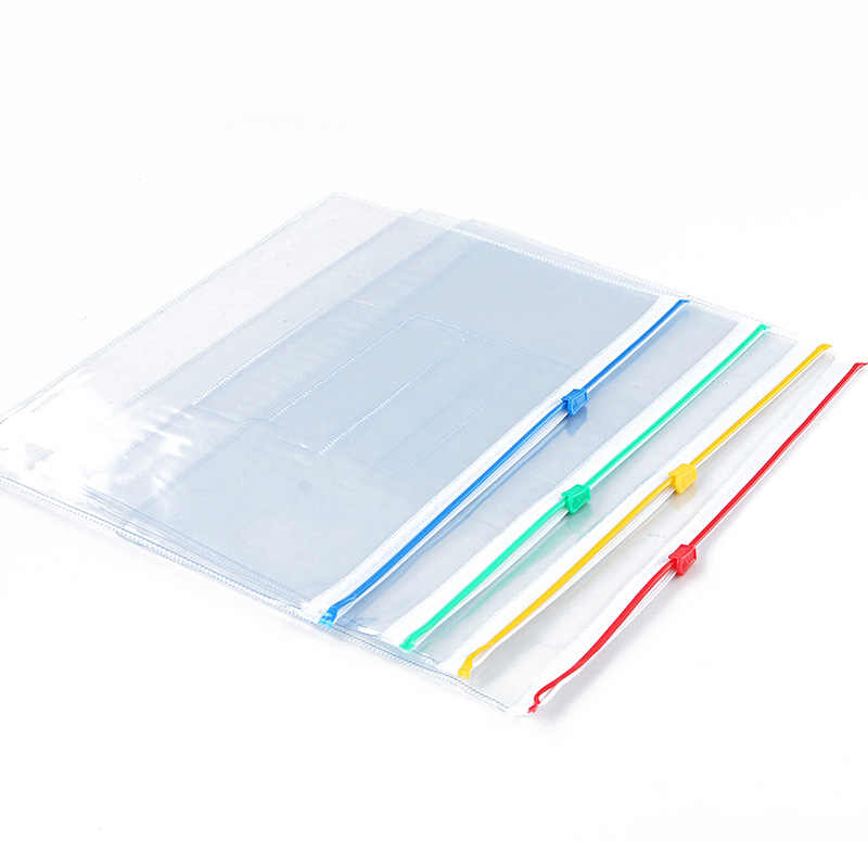 TIANSE A5 zipper closured file bag pvc plastic document bag presentation  folder business organizer school stationery storage bag