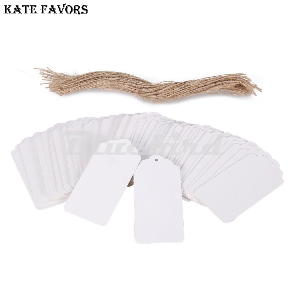 100pcs White Paper Gift Tags Wedding Favors Lable Candy Box Tags Scallop Label Wedding Luggage Scallop Label Blank New